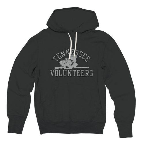 Men's Retro Brand Tennessee Volunteers Rifleman Softee Hooded Fleece Sweatshirt (Charcoal)