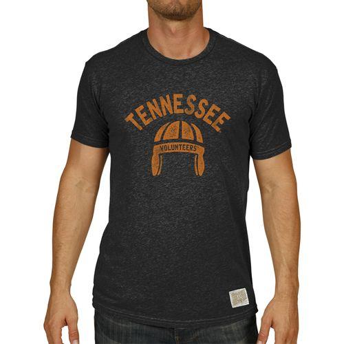 Men's Retro Brand Tennessee Volunteers Heather Retro Helmet T-Shirt (Heather Black)