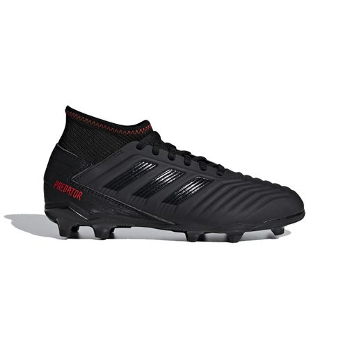 Grade School Adidas Predators 19.3 FG Cleats (Black/Black)