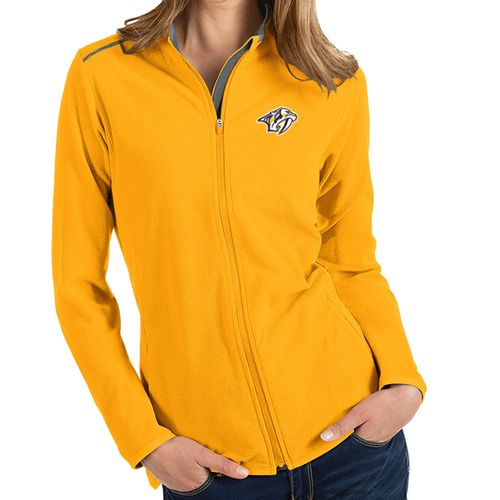 Women's Antigua Nashville Predators Glacier Zip-Up (Gold)