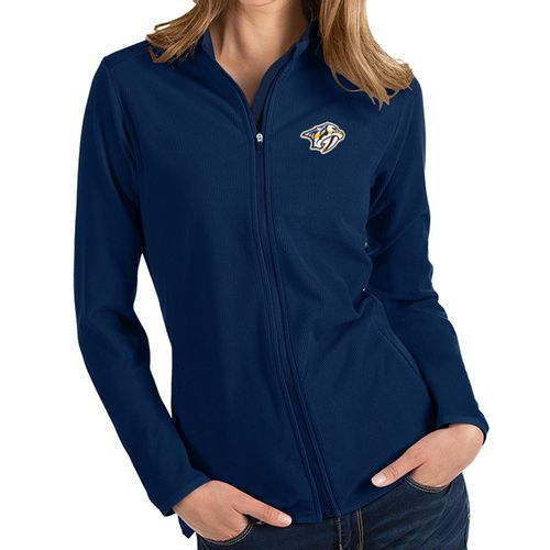 Women's Antigua Nashville Predators Glacier Zip-Up (Navy)