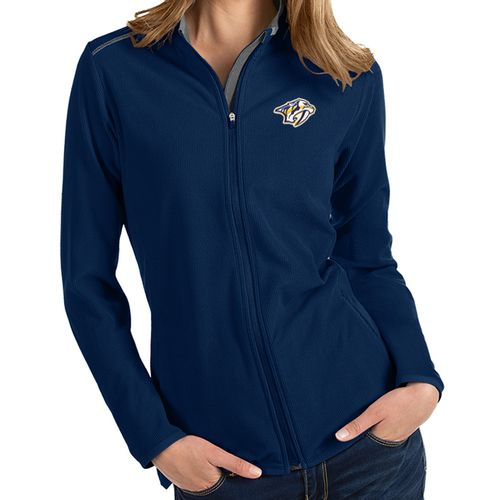 Women's Antigua Nashville Predators Glacier Zip-Up (Navy/Charcoal)