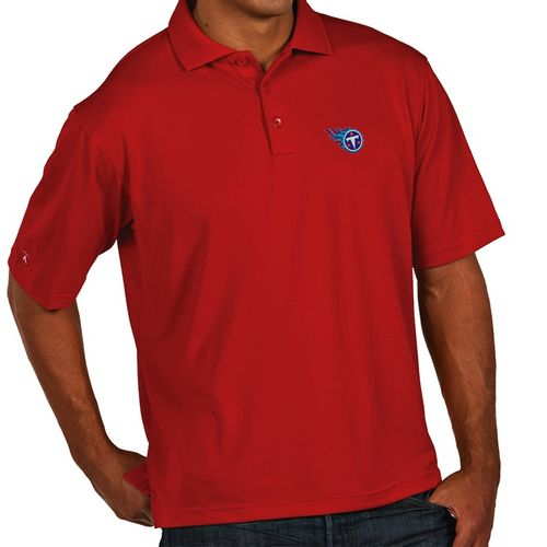 Men's Tennessee Titans Primary Logo XLT Polo (Red)