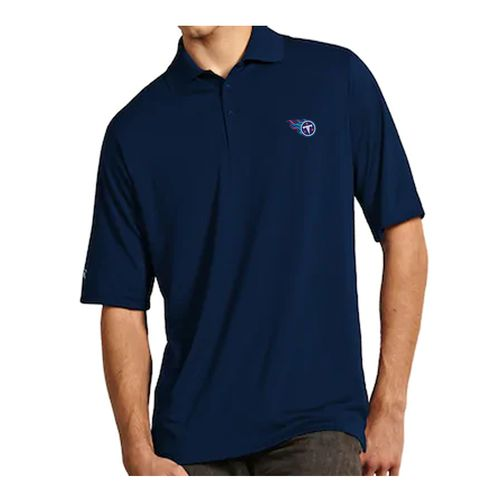 Men's Tennessee Titans Primary Logo XLT Polo (Navy)