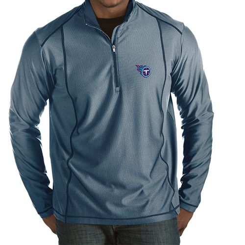 Men's Tennessee Titans Tempo Primary 1/4 Zip Long Sleeve Shirt (Navy/Heather)