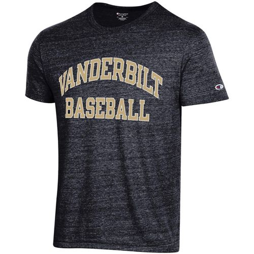 Men's Champion Vanderbilt Commodores Baseball Tri-Blend T-Shirt (Black)