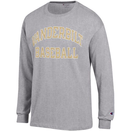 Men's Champion Vanderbilt Commodores Baseball Long Sleeve Shirt (Granite)