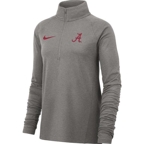 Women's Nike Alabama Crimson Tide Dri-FIT Element Fleece Half-Zip Up (Dark Grey)