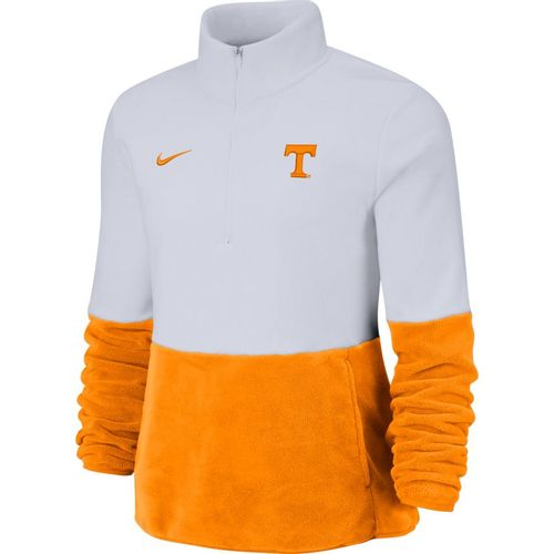 Women's Nike Tennessee Volunteers Dri-FIT Therma Fleece Half-Zip Up (White/Orange)