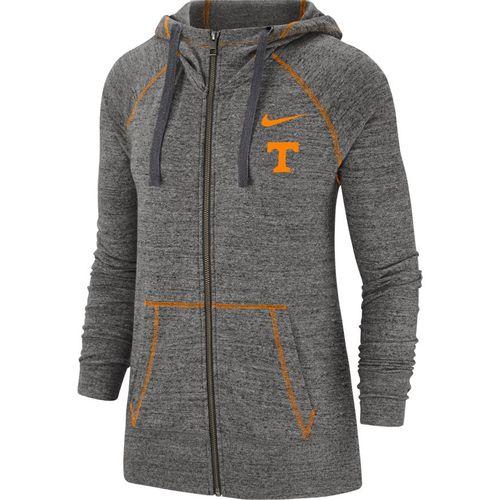 Women's Nike Tennessee Volunteers Gym Vintage Full-Zip Up Hoodie (Carbon)