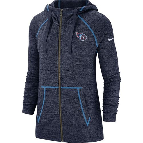 Women's Nike Tennessee Titans Gym Vintage Full Zip Up (Navy)