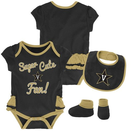 Infant Vanderbilt Commodores Mini Trifecta Set (Black/Gold)