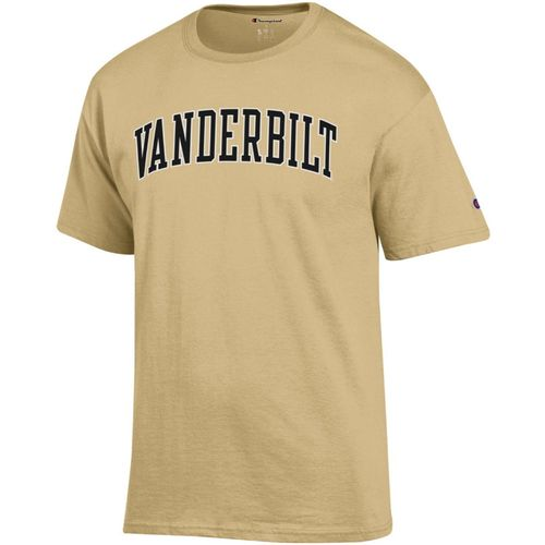 Men's Champion Vanderbilt Commodores Arch Jersey T-Shirt (Gold)