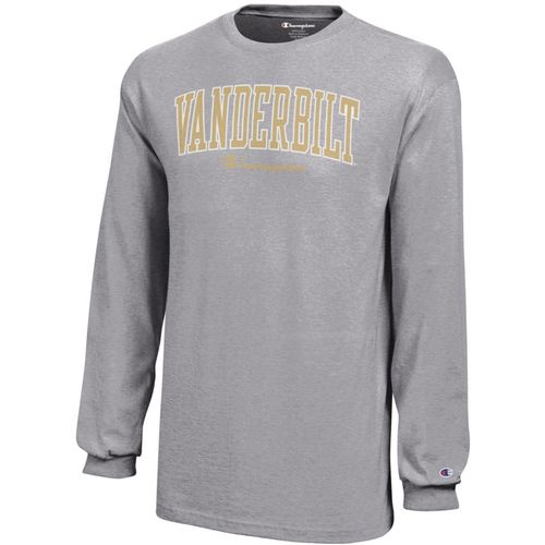 Youth Champion Vanderbilt Commodores Arch Long Sleeve Shirt (Oxford Grey)