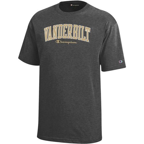 Youth Champion Vanderbilt Commodores Vertical Arch T-Shirt (Granite)