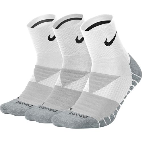 Nike 3-Pack Dri-FIT Max Cushioned Training Ankle Length Socks (White/Wolf Grey)