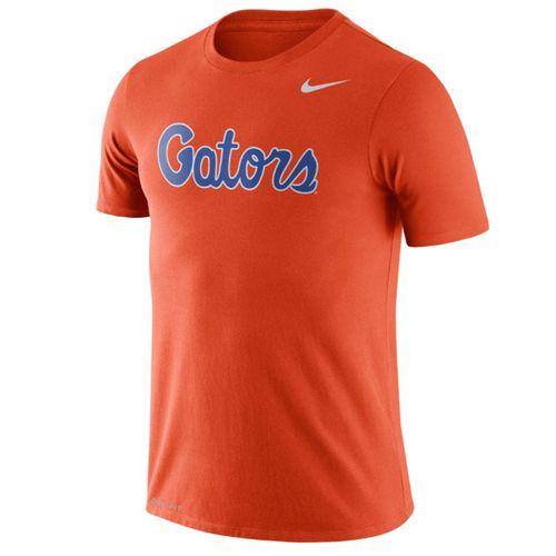 Men's Nike Florida Gators Dri-FIT Cotton Wordmark T-Shirt (Orange)
