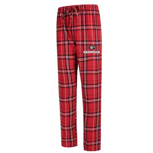 Men's Georgia Bulldogs Hillstone Flannel Pant (Red/Black)