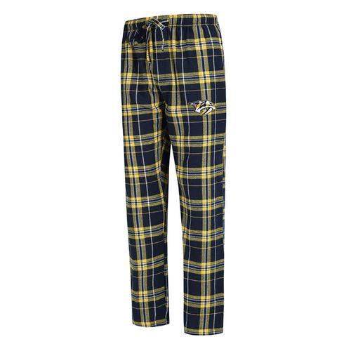 Men's Nashville Predators Hillstone Flannel Pant (Navy/Gold)