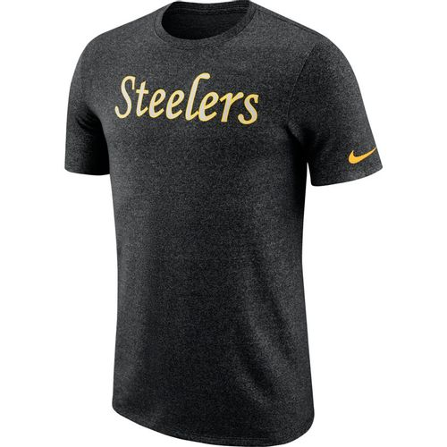 Men's Nike Pittsburgh Steelers Dri-FIT Marled Vault T-Shirt (Black)