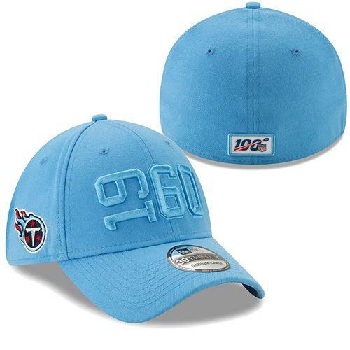 New Era Tennessee Titans 2019 Sideline Alternate 3930  Flex Hat (Light Blue)