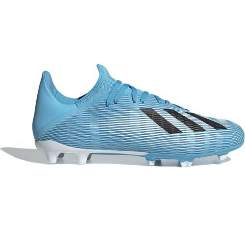Men's Adidas X 19.3 Firm Ground Soccer Cleat (Cyan/Black)