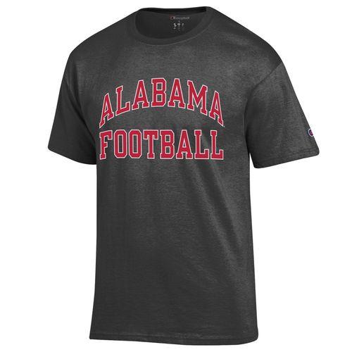 Men's Champion Alabama Crimson Tide Arch Football T-Shirt (Granite)
