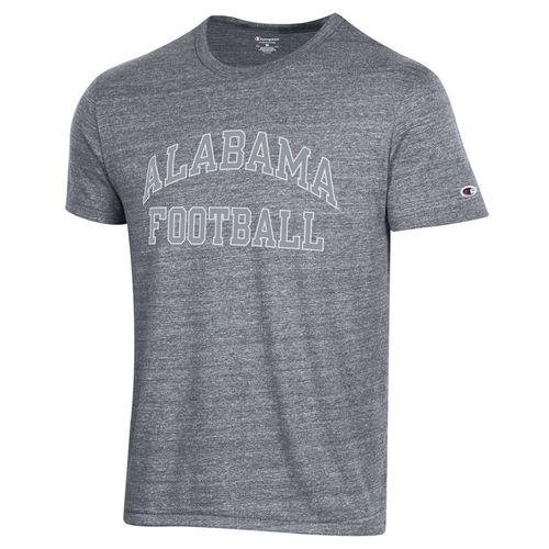 Men's Champion Alabama Crimson Tide Football Tri-Blend T-Shirt (Gun Smoke)
