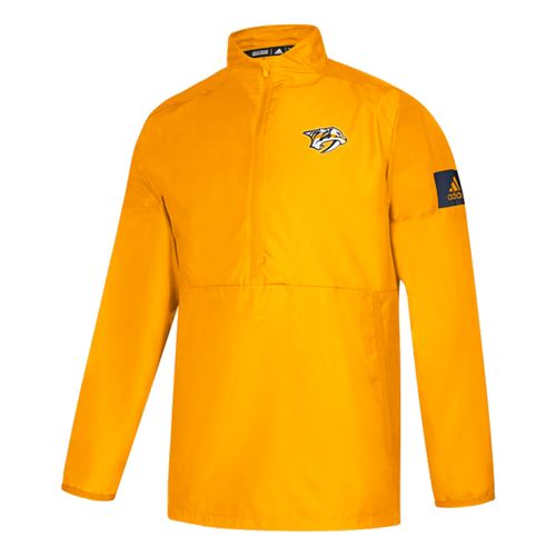 Men's Adidas Nashville Predators Game Mode 1/4 Jacket (Gold)