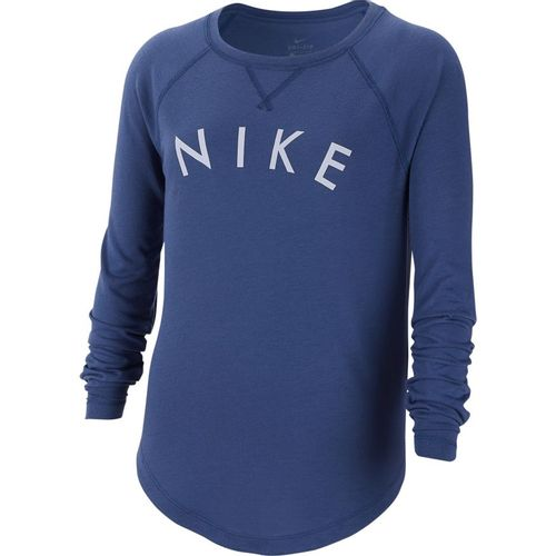 Girl's Nike Dri-FIT Trophy Long Sleeve Shirt (Navy/Lavender)
