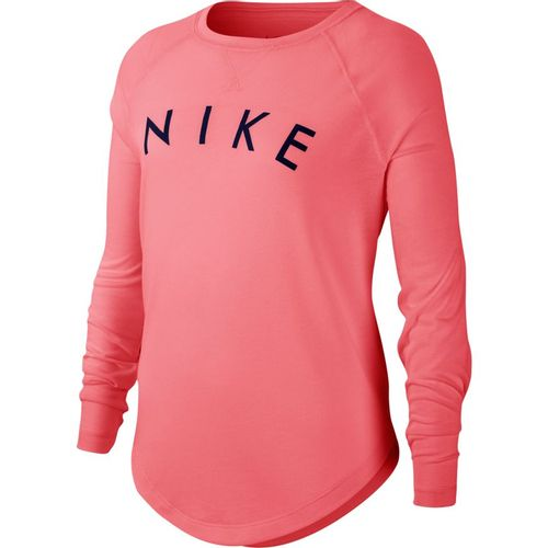 Girl's Nike Dri-FIT Trophy Long Sleeve Shirt (Pink/Blue)