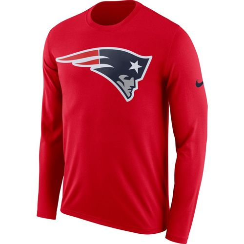 Men's Nike New England Patriots Dri-FIT Long Sleeve Shirt (Red)