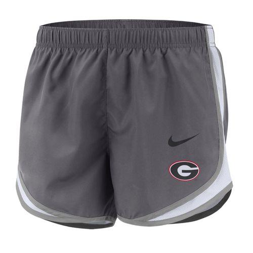 Women's Nike Georgia Bulldogs Tempo Running Short (Dark Grey)