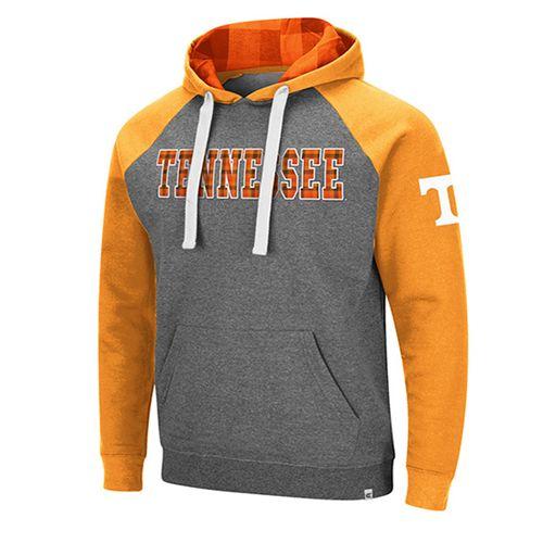 Men's Tennessee Volunteers Raglan Hooded Fleece (Charcoal/Orange)