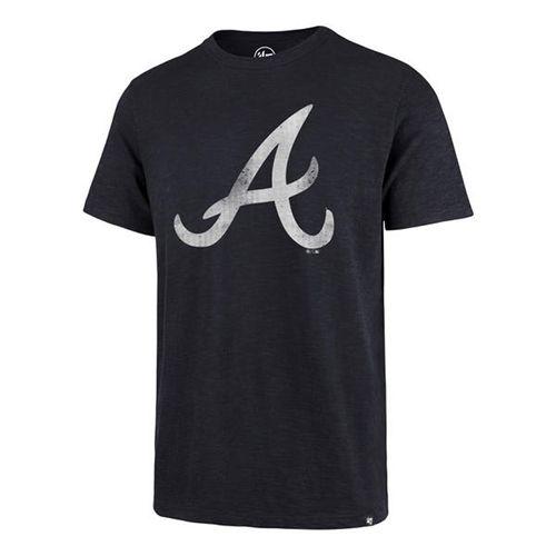 '47 Brand Men's Atlanta Braves Grit Scrum T-Shirt (Navy)