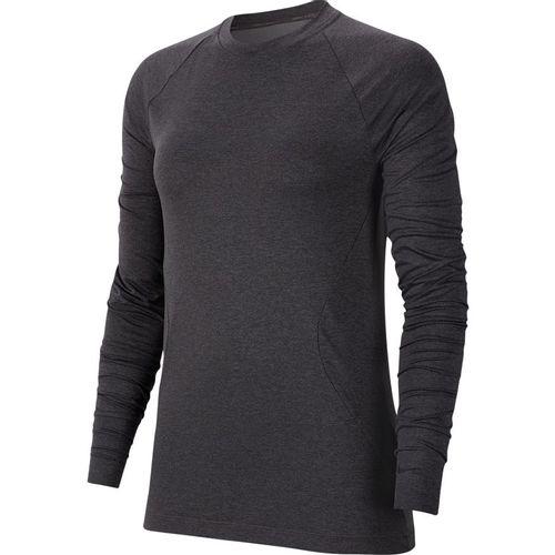 Women's Nike Pro Warm Long Sleeve Shirt (Oil Grey)