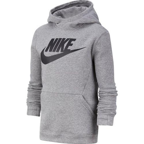 Boy's Nike Sportswear Hooded Sweatshirt (Dark Grey/Black)