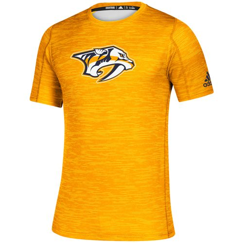 Men's Adidas Nashville Predators Game Mode Training T-Shirt (Gold)