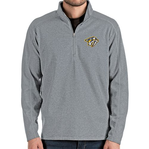 Men's Antigua Nashville Predators Primary Brawn 1/4 Zip Up (Silver/Grey)