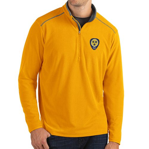 Men's Antigua Nashville Predators Guitar Pick Glacier Zip-Up (Gold)