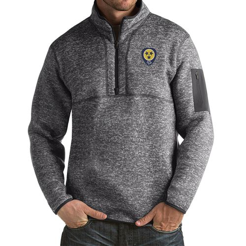 Men's Antigua Nashville Predators Guitar Pick Fortune Zip Up (Smoke)