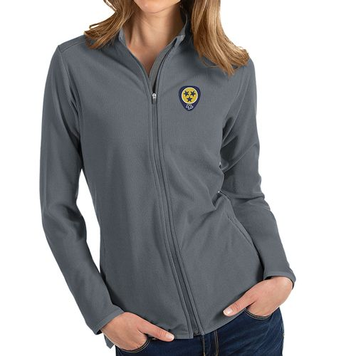 Women's Antigua Nashville Predators Guitar Pick Glacier Zip-Up (Steel)