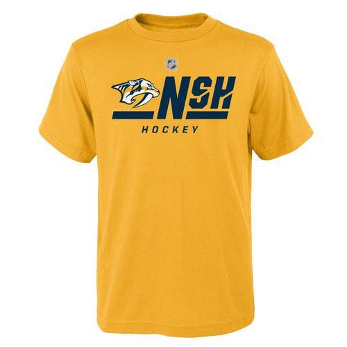 Youth Nashville Predators On Ice Primary T-Shirt (Gold)