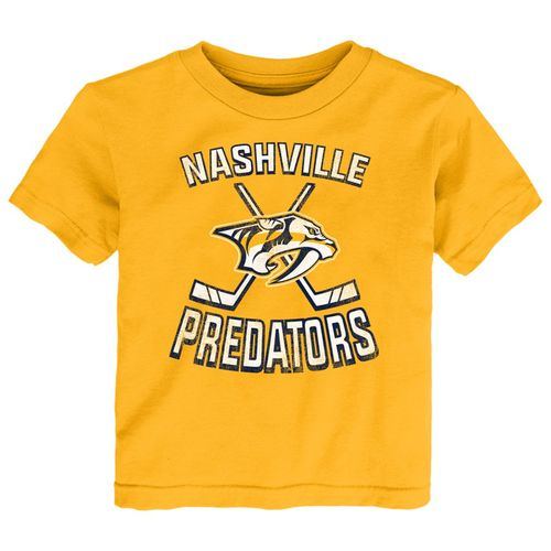 Toddler Nashville Predators Double Cross T-Shirt (Gold)