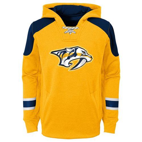 Youth Nashville Predators Zenith Hooded Sweatshirt (Gold)