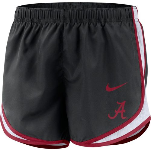 Women's Nike Alabama Crimson Tide Tempo Running Short (Black/Crimson)