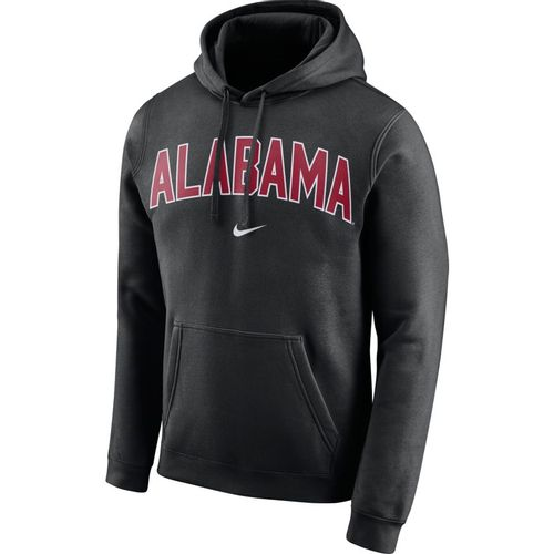 Men's Nike Alabama Crimson Tide Club Arch Hooded Sweatshirt (Black)