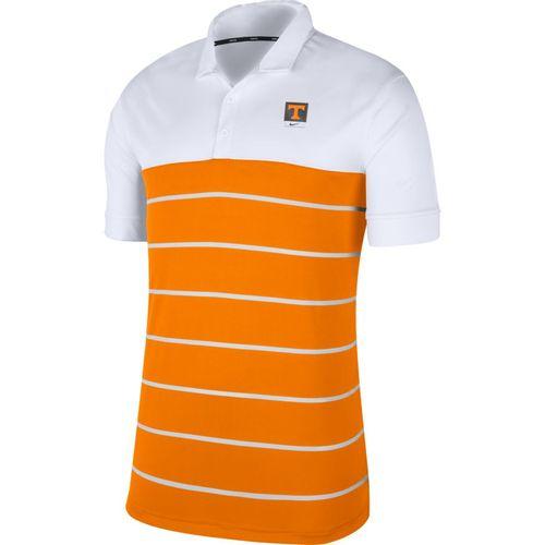 Men's Nike Tennessee Volunteers Wide Striped Polo (White/Orange)
