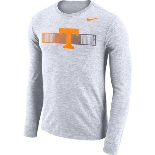 Men's Nike Tennessee Volunteers Dri-FIT Slub Logo Long Sleeve Shirt (White)