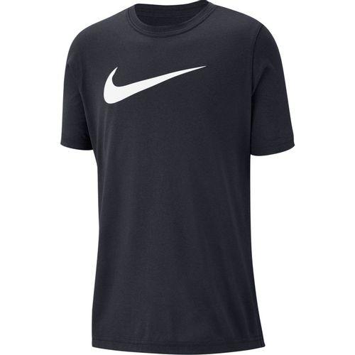 Boy's Nike Dri-FIT Swoosh T-Shirt (Obsidian)